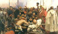«Запорожцы пишут письмо турецкому султану», И.Е.Репин, 1880-1891, Русский музей