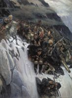 «Переход Суворова через Альпы», В.Суриков