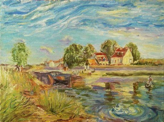 Копия. Сислей. Канал Луа в Сен-Мамме