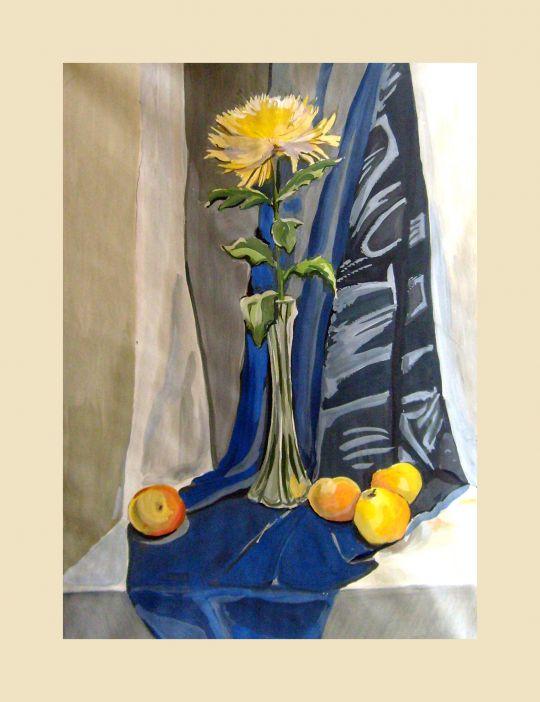 Натюрморт с Хризантемой