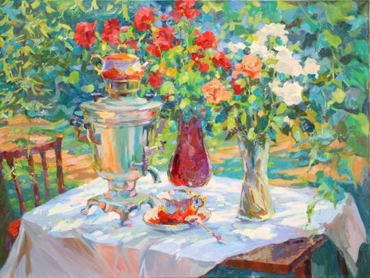 """картину """"Праздничное чаепитие ...: realgallery.ru/painters/genre/natyurmort/picture/112447"""