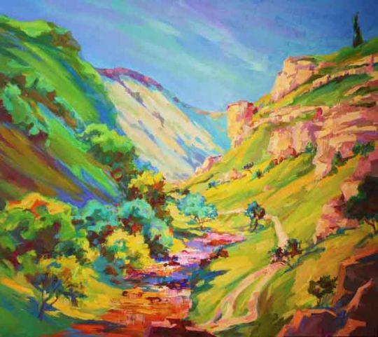 Уединённая прогулка в горах.
