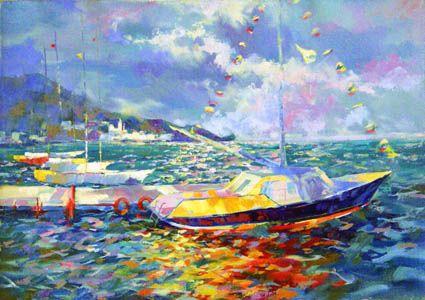 Яхты на закате.Крым.