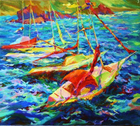 Свежий ветер.Яхты.