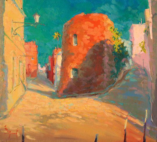 Каталония.Жирона.Старая улочка.