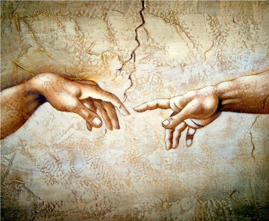 Сотворение мира.фрагмент.копия Микеланджело..худ.С.Минаев
