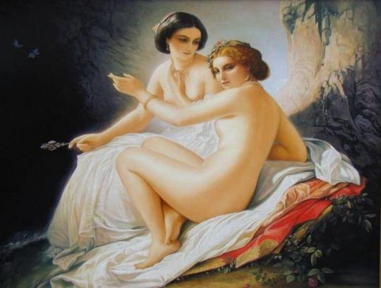 """копия Тимофей Нефф """"Две девушки в гроте"""""""