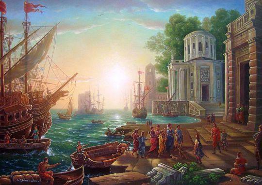 Прибытие Клеопатры в Тарс.