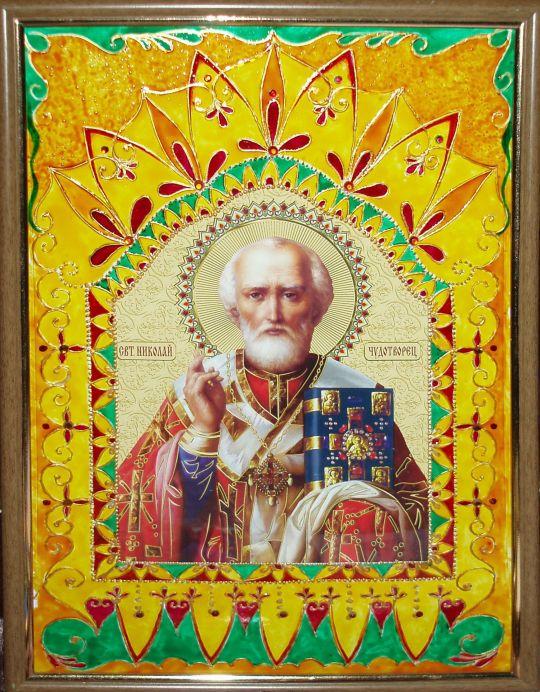 Оклад к иконе Николая Чудотворца