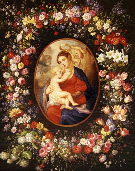 Мадонна в венке из роз.копия Рубенса.худ.С.Минаев