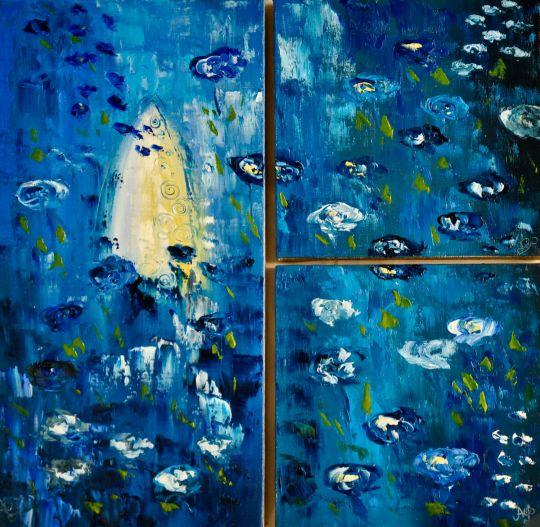 Триптих. Синие розы Эдема.
