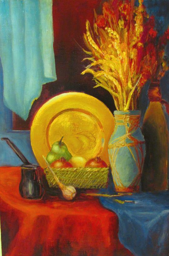 Натюрморт с золотым блюдом