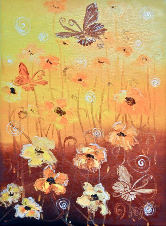 Бабочки Беж