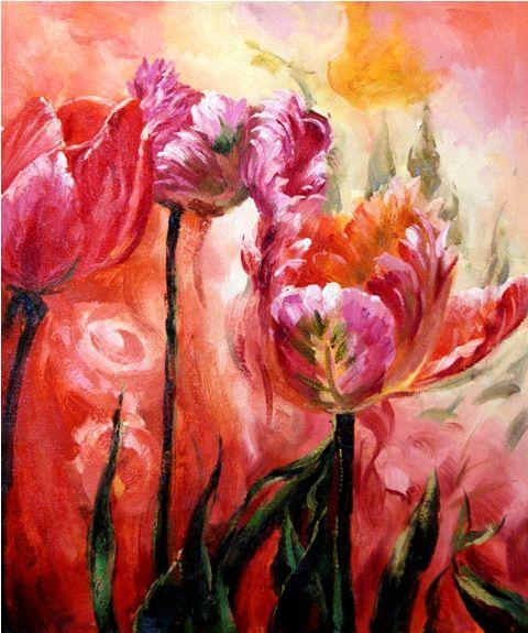 Тюльпаны.худ.С.Минаев