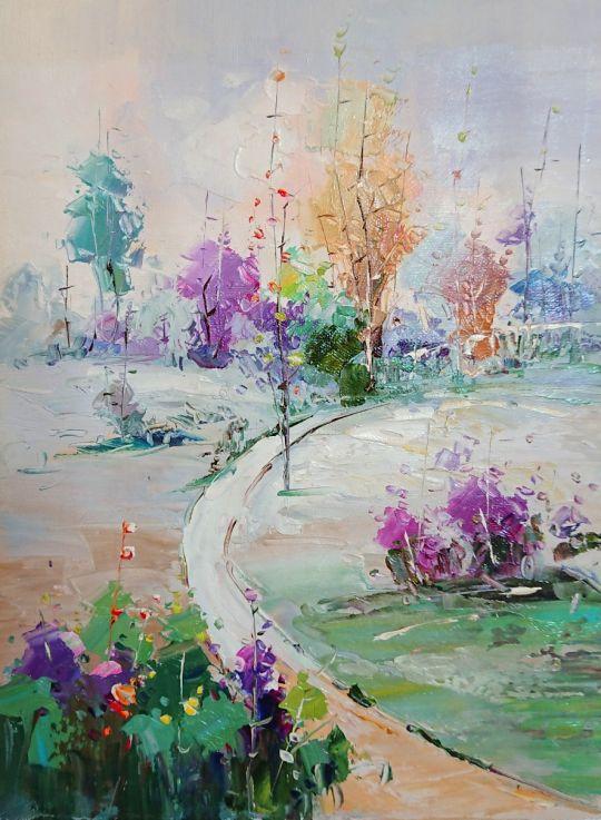 Весенний букет.худ.А.Джанильятти