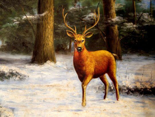 В лесу.худ.С.Минаев