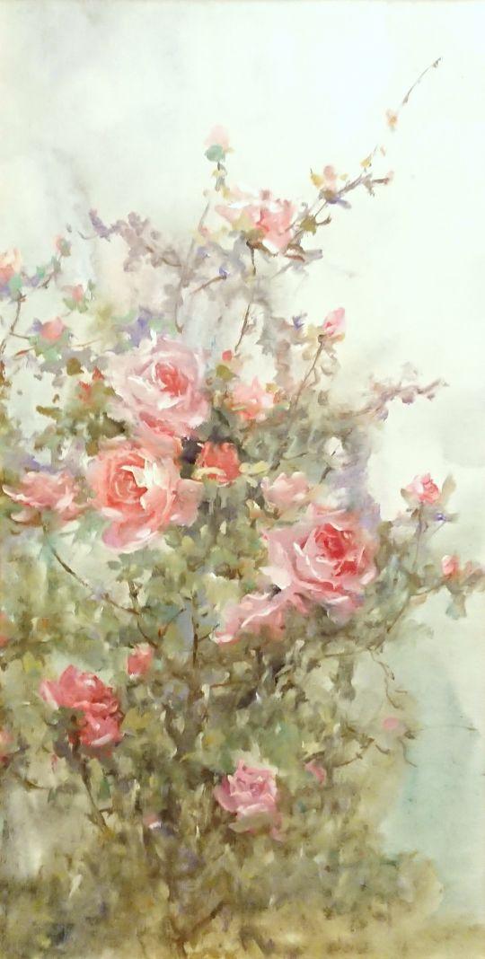 Утренние розы.худ.А.Джанильятти