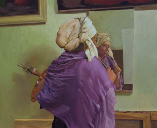 Молодая художница