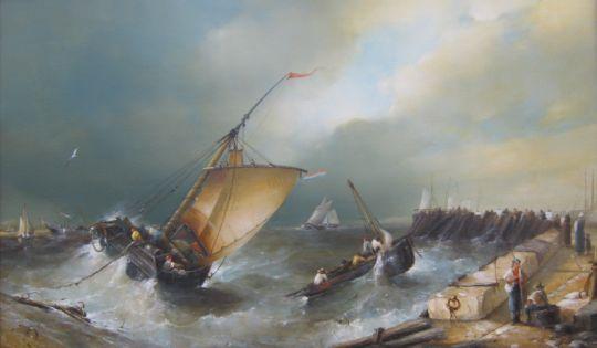 """Джеймс Вебб """"Рыбацкие суда, стремящиеся в порт"""