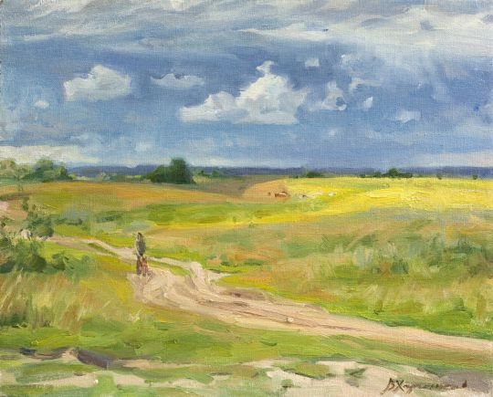 Дорога в полях