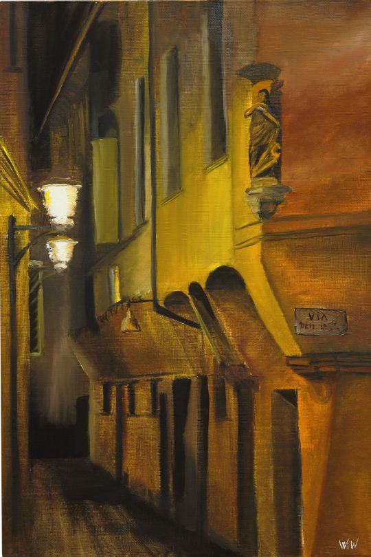 Улица Dell Inferno в Болонье