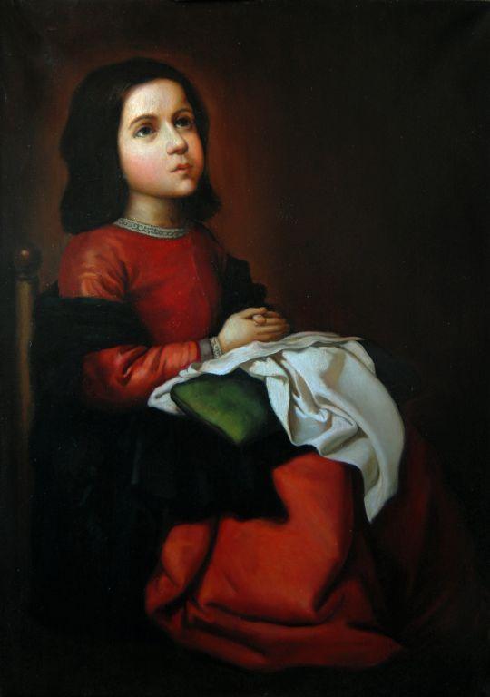 Отрочество Марии. Франсиско де Сурбаран. Копия