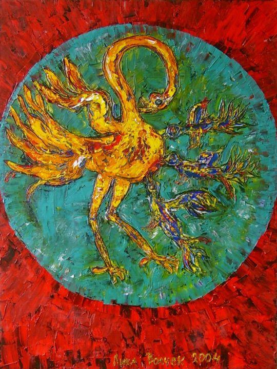 Пеликан, кормящий кровью своих птенцов