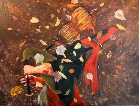 Осенний волынщик