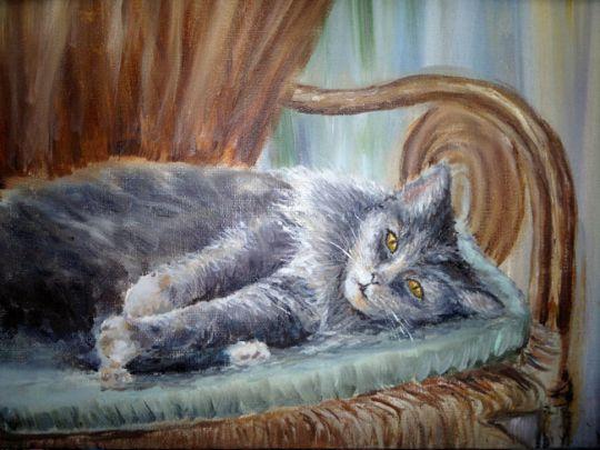 Дымчатая кошка