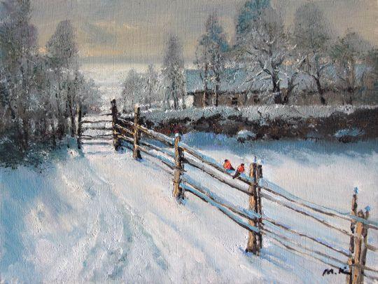 Зимка, снегири