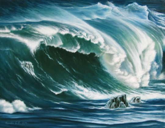 Морской пейзаж. Волна