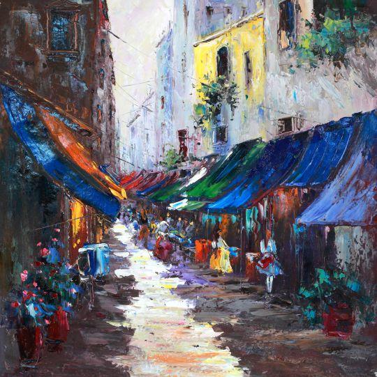 Город. На летних улицах (N3). Картина Кристины Виверс