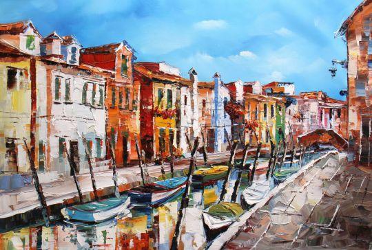 В пригороде Венеции. Картина Хосе Родригеса