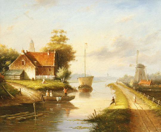 Голландский пейзаж. N01 (Автор А.Ромм)