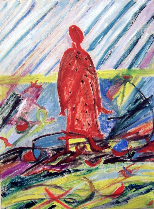 Красный ангел (памяти Малевича)