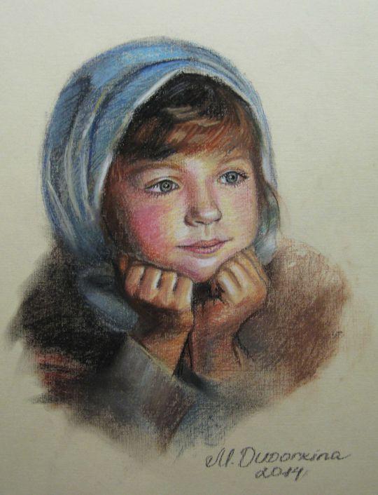 Портрет деревенской девочки