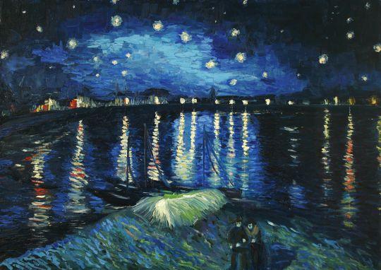 Копия Ван Гог Звездная ночь над Роной