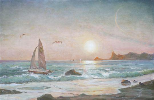 Закат у крымских берегов