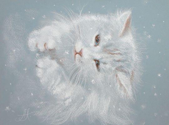 Снежинку ловить