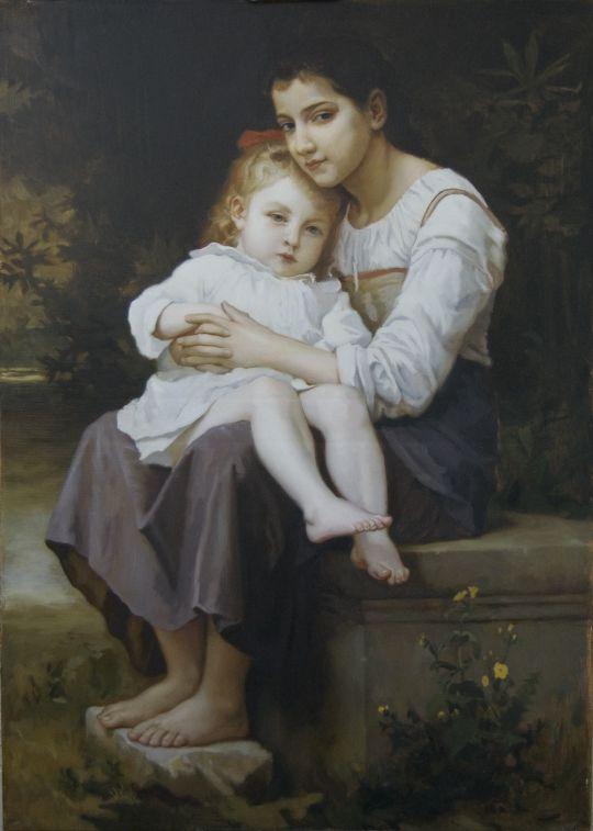 Старшая сестра. Адольф-Вильям Бугро. Копия.
