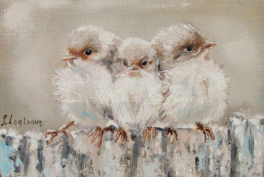 Три маленькие птички...миниатюра