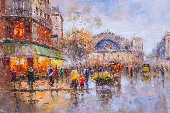 Le Gare de l'Est Boulevard (Восточный вокзал, копия Кристины Виверс)