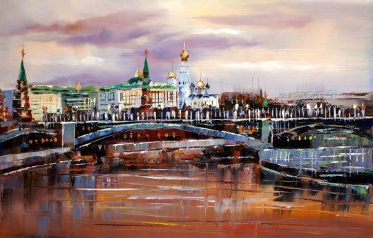 """""""Вид на Кремль. Розовый рассвет"""""""