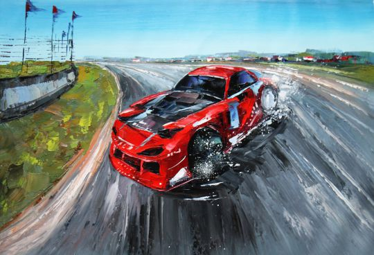 «Ралли. Красная машина в дрифте»