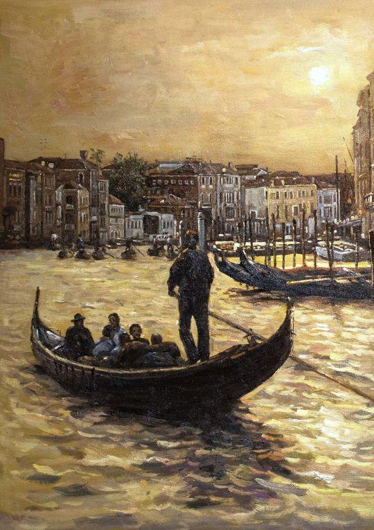 Венеция. Прогулка по каналам на закате