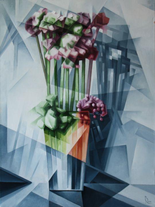 Ваза с цветами. Кубофутуризм