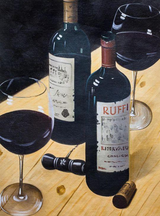 Натюрморт с красным вином N2