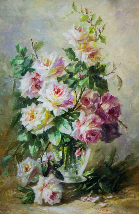 Розы. Утренний букет N3