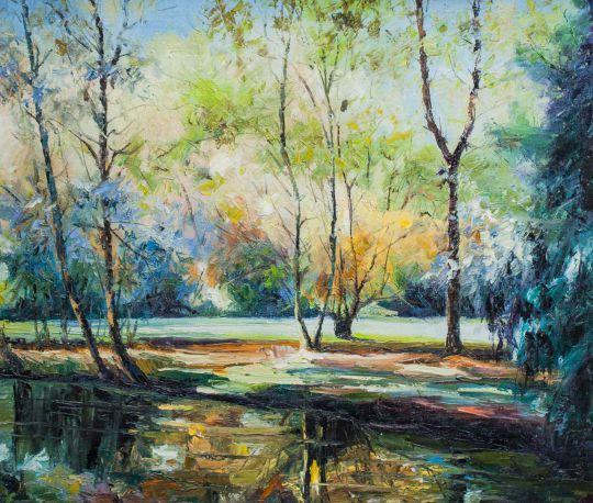 Солнечным днем в лесу. Разноцветные отражения