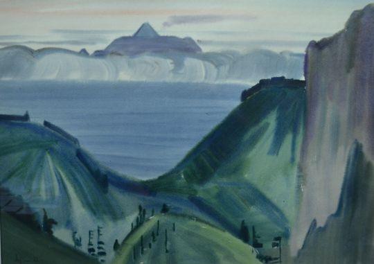 Кунашир.Вулкан Тятя.Из серии Курилы. 1973 г.
